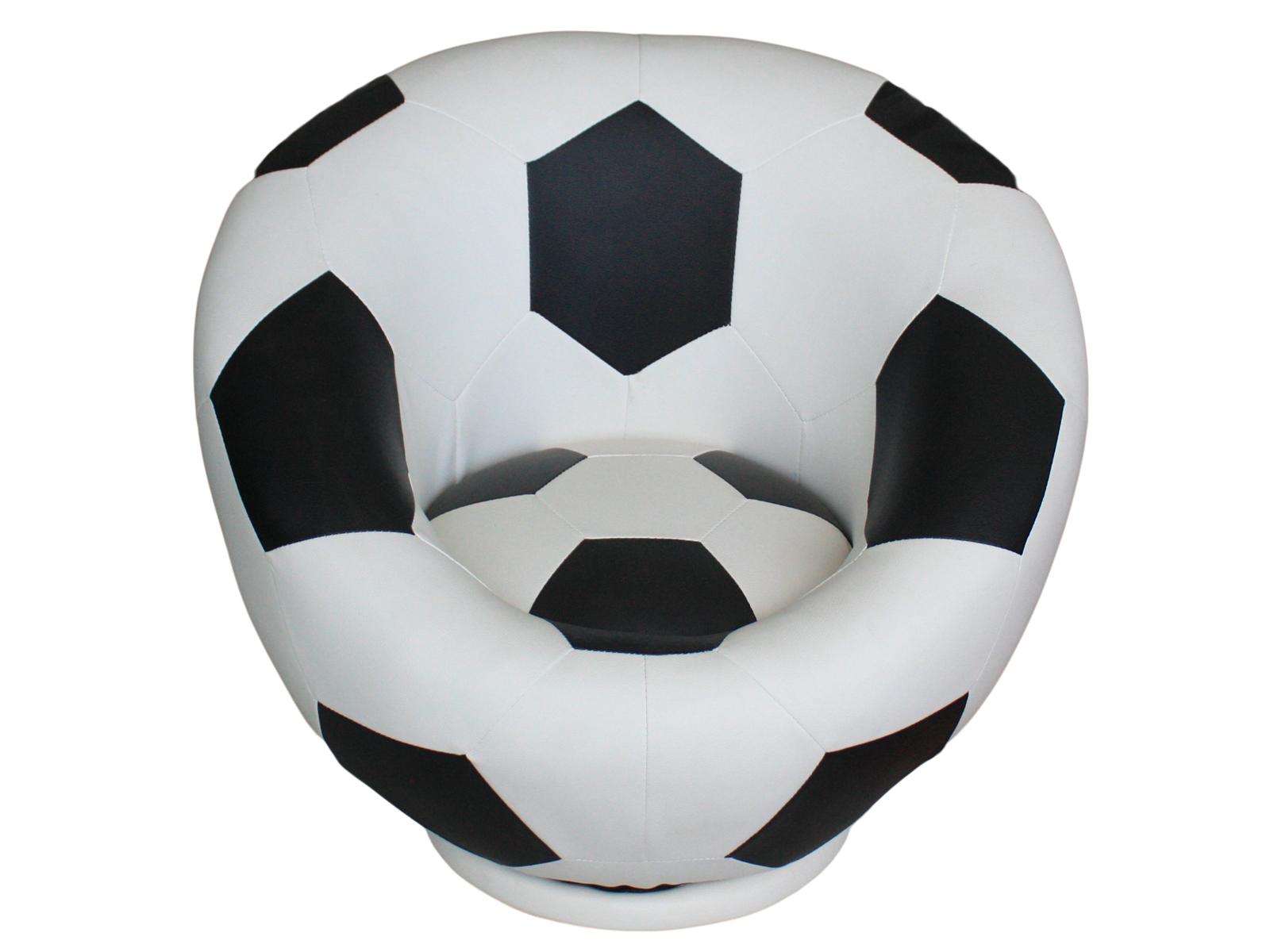 Stylowy Obrotowy Fotel Dziecięcy Z Ekoskóry Piłka Nożna Mundial 242