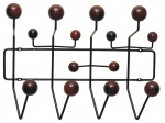 HOME DECOR WIESZAK ŚCIENNY WENGE KULKI ROUNDHOOK HANG IT ALL DSW HANDLEY