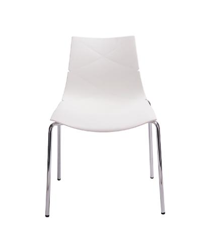 Krzesło Białe Skandynawskie Leaf Qt 01 Do Salonu Biura